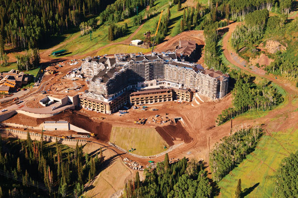 Hotel under construction at Deer Valley