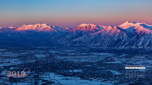 Sunset on the Wasatch Front