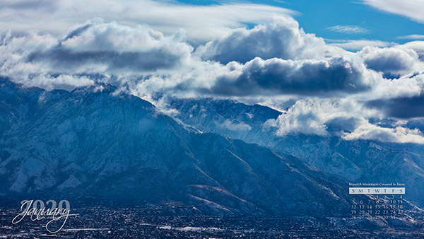 Snow on the Wasatch Mountains
